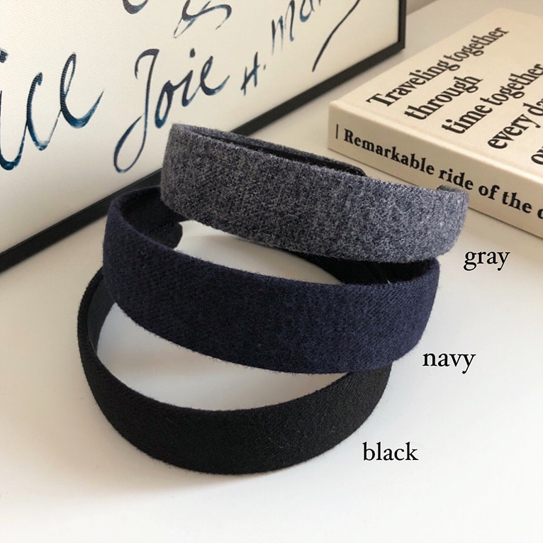wool hairband(5color/2size)