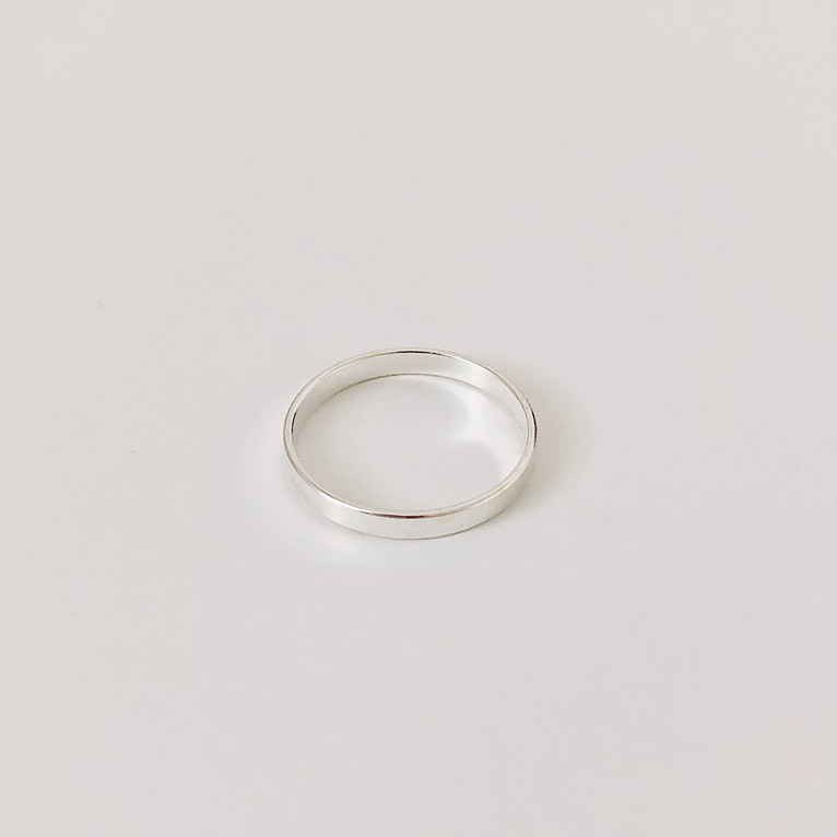 925silver 2mm flat ring