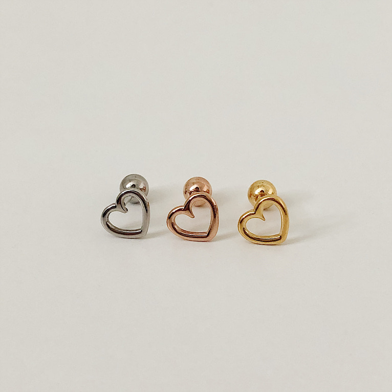 surgical steel heart piercing