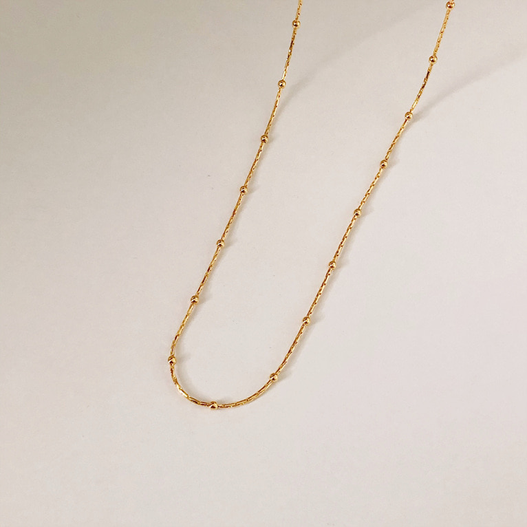 925silver line sliky chain ball point necklace