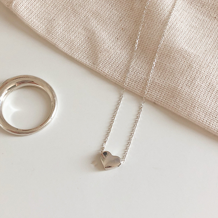 925silver pure heart necklace